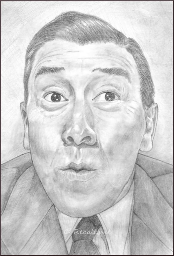 fernandel - dessin - dessin crayon - acteur comique
