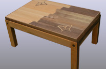 Table basse « papillons »