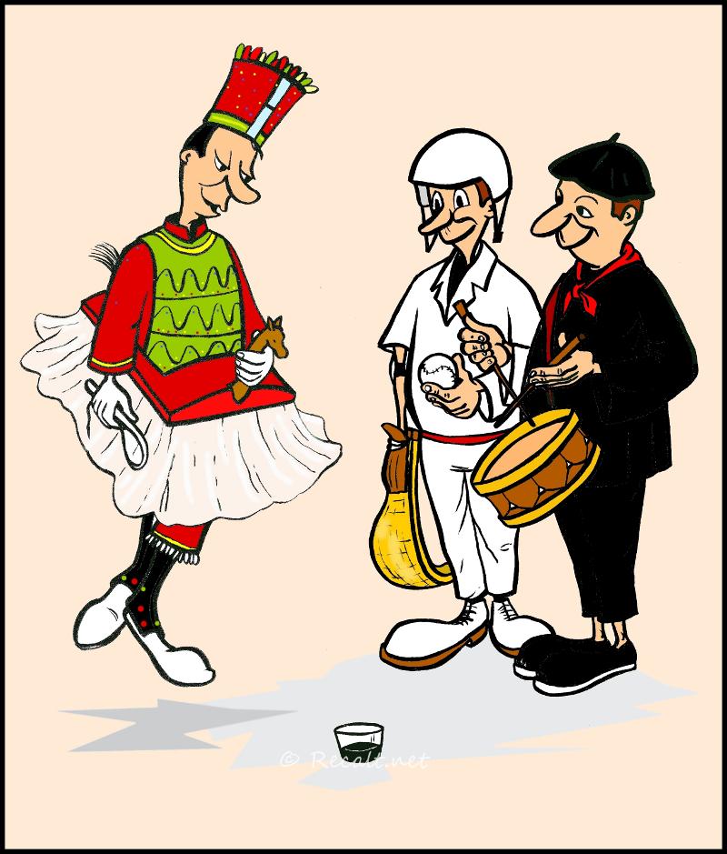 mauleko bestak - fêtes de mauléon - dessin - fetes de mauleon