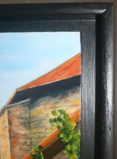 tableau huile - oleo madera - pintura oleo