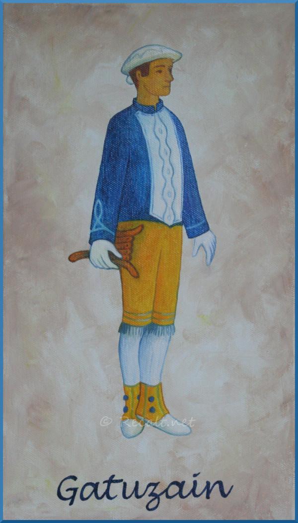 Gatuzain - danseur souletin - xiberoko dantzaria