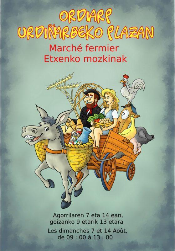 marche fermier ordiarp - affiche - etxenko mozkinak - urdinarbe - urdiñarbe - marche ordiarp