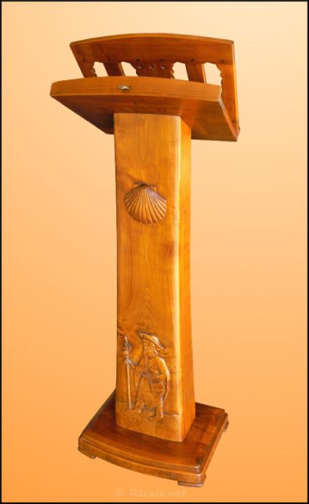 lutrin merisier - ambon - lutrin ordiarp - ambon ordiarp - ambon sculpte - sculpture lutrin - camino santiago