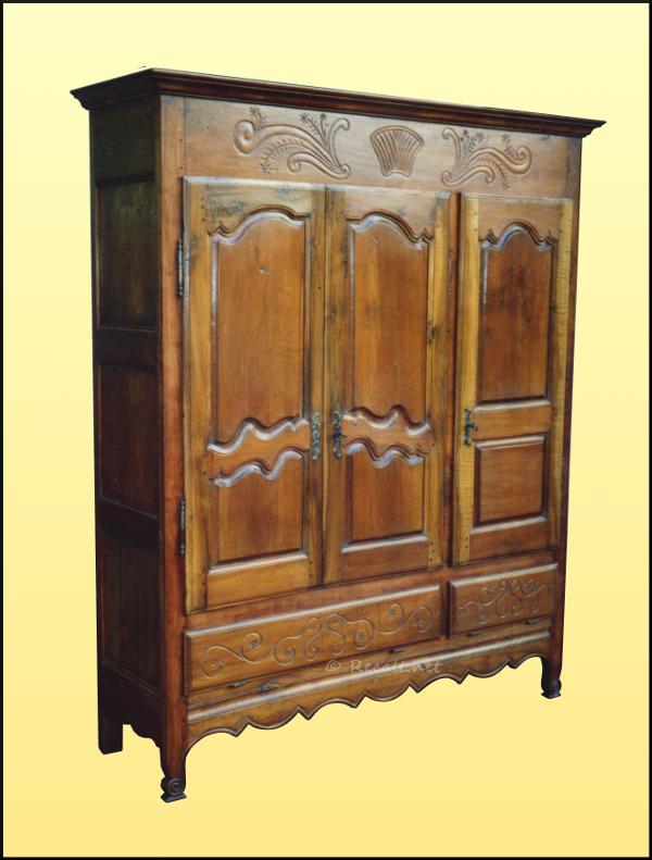 armoire souletine - armoire 3 portes - artisanat souletin - ebenisterie soule
