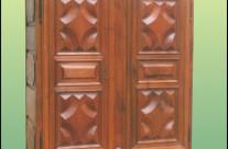 Armoire deux portes restaurée