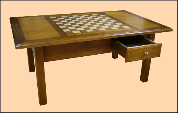 Table salon - damier - échiquier