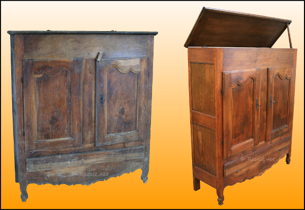 baldia manka - restauration - mobilier basque ancien