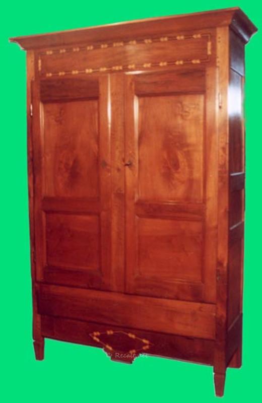 armoire avec filets de marqueterie - armoire souletine - armoire pays-basque
