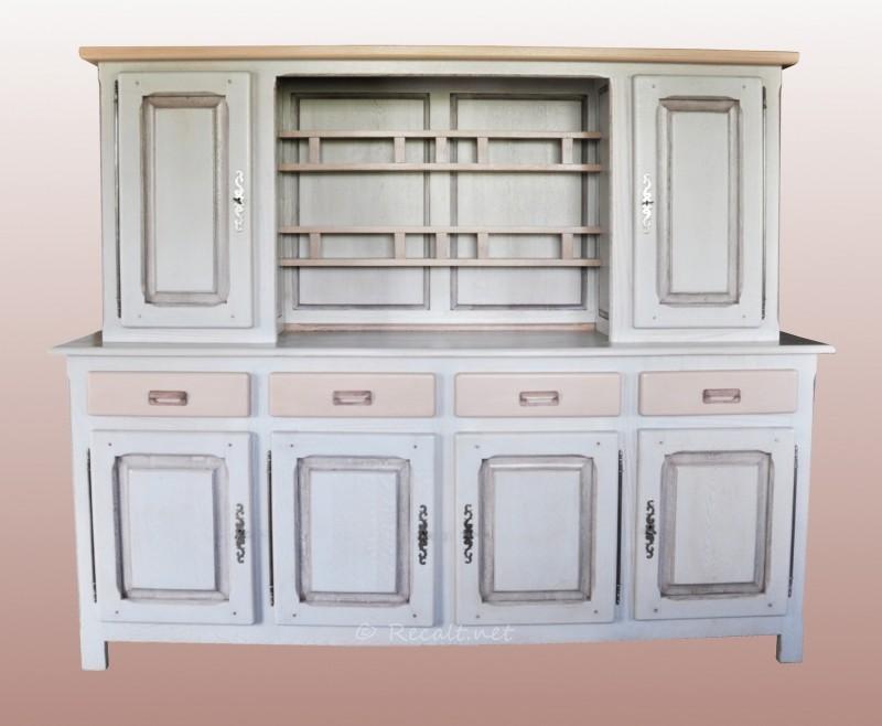 vaisselier couleur - vaisselier restauré - restauration vaisselier