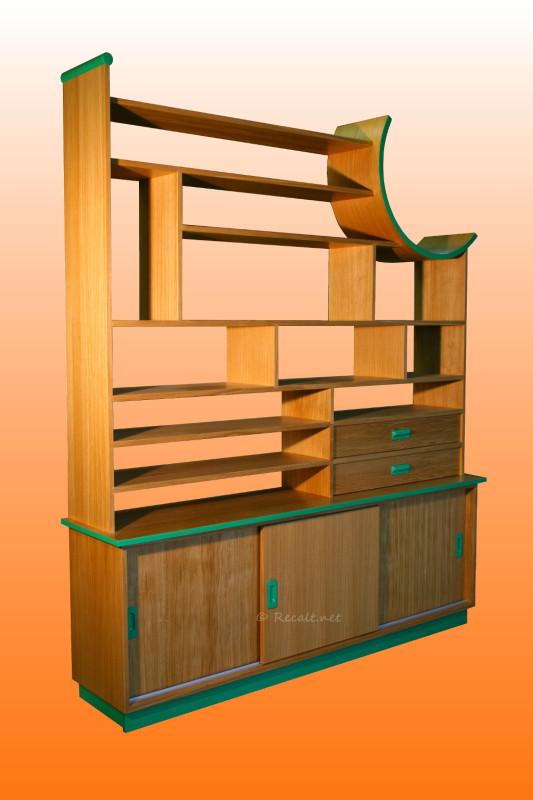 bibliothèque contemporaine étagère courbe design moderne