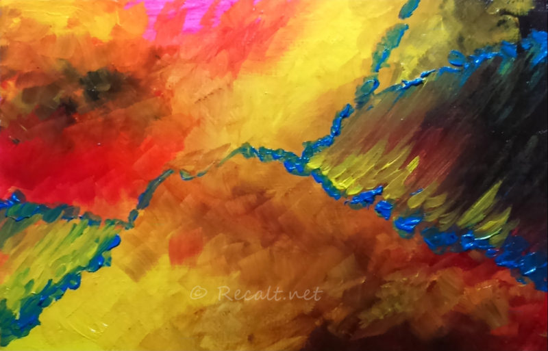 tableau - huile - abstraction - abstrait